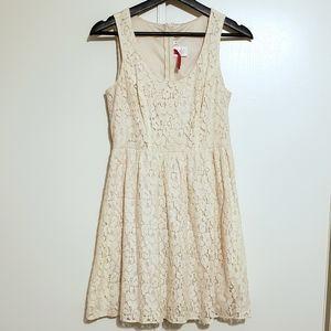 Heart Soul Ivory Lace Dress